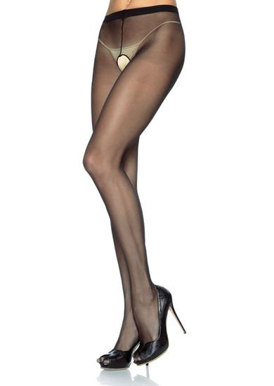 Sheer Nylon Crotchless Pantyhose