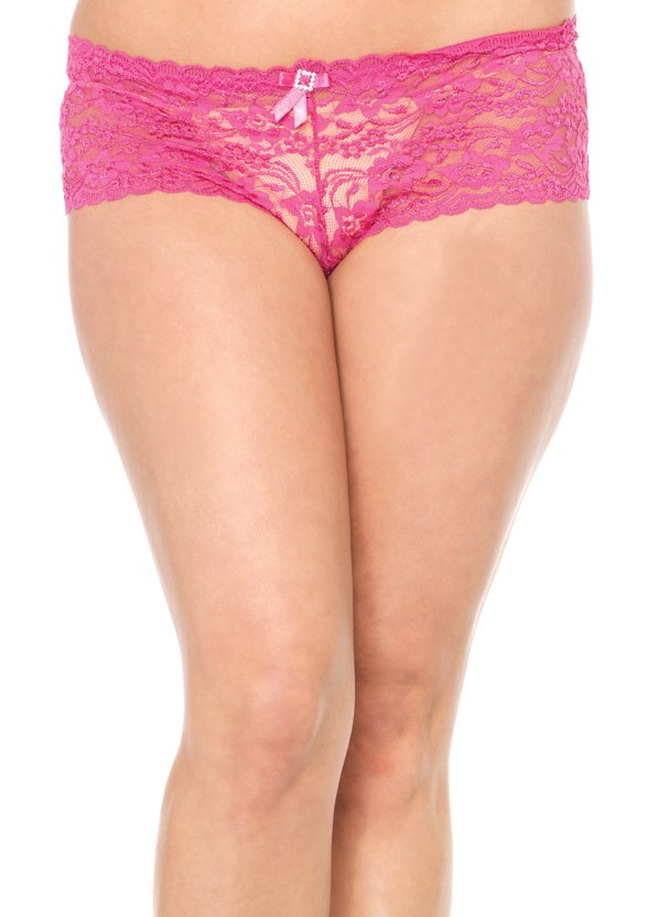 Strech Lace Tanga with Satin Bow Accent