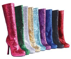 4 Inch Knee High Glitter Boots