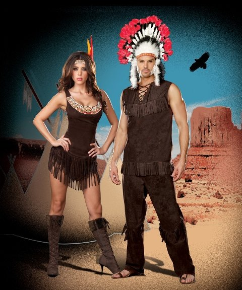 Pocahottie and Chief Long Arrow Couple Costume