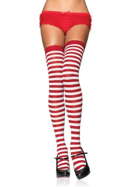 c96e2fa275f Pink Impulse   Sheer   Opaque Thigh Highs   Nylon Striped Thigh Highs