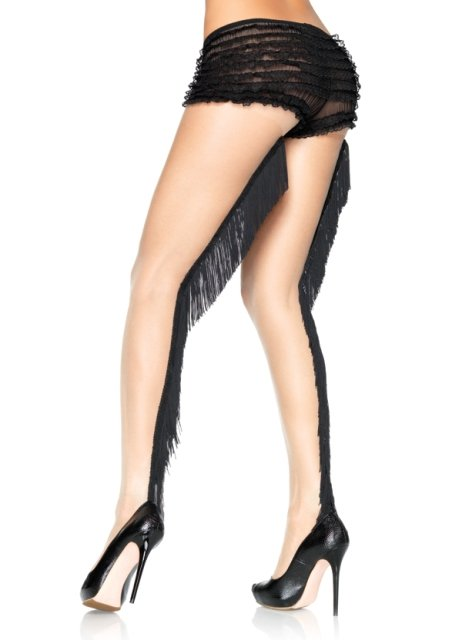 Fringe Backseam Pantyhose