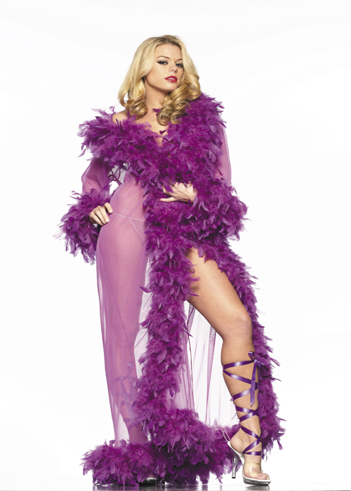 Feather Floor Length Robe - MORE COLORS