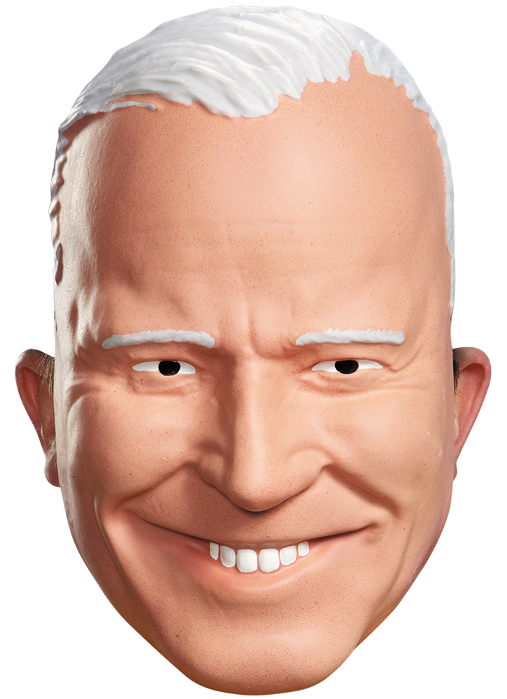 Joe Biden Vacuform Half Adult Mask