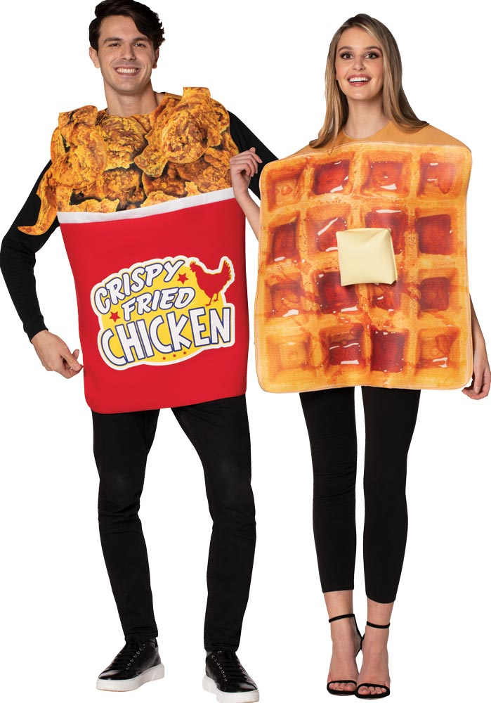 Chicken & Waffle Couples Costume