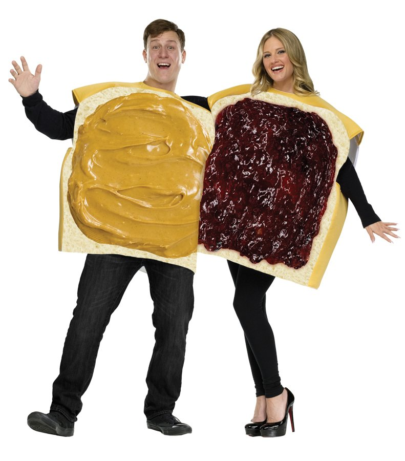 Peanut Butter and Jelly Adult Couple Costume