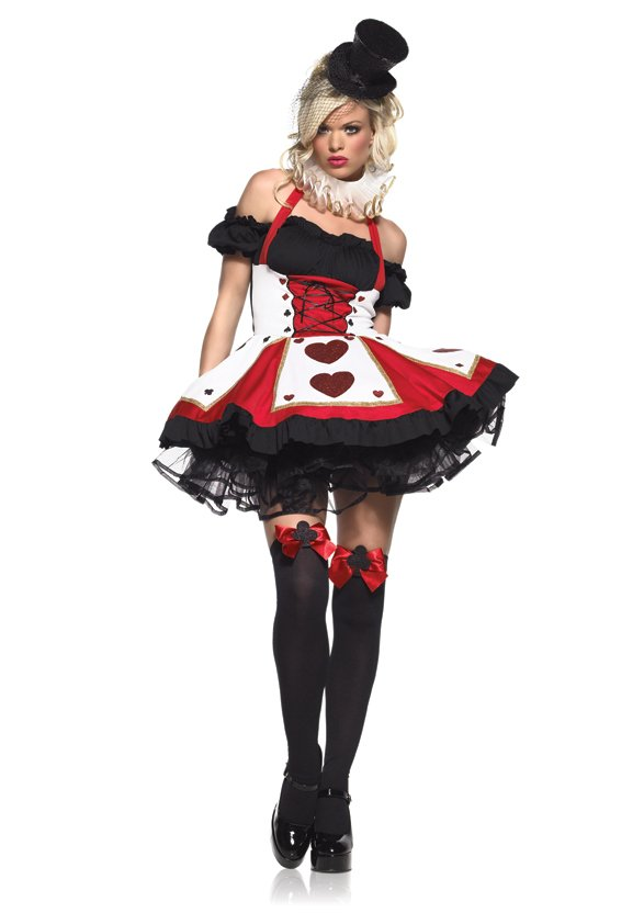 Pretty Playing Card Queen of Hearts Costume