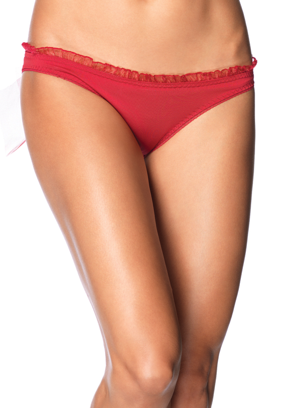 Sheer Train and Oversized Back Bow Panty - MORE COLORS