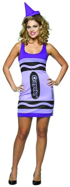 Crayola Wisteria Crayon Tank Dress Adult Costume