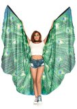 Peacock Feather Halter Wing Cape