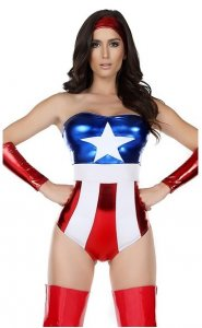 Captivating Champion Sexy Hero Captain America Costume