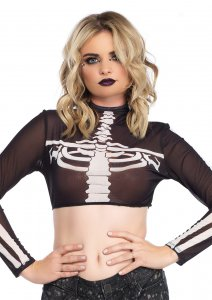 Skeleton Crop Top
