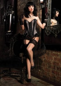 Gabrielle Corset with Satin and Garters