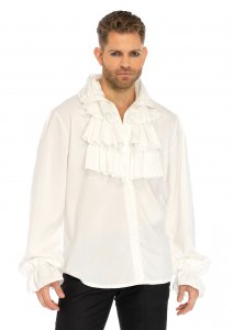 Ruffle Front Men's Shirt