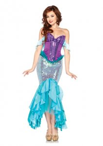 Adult Disney Princess Deluxe Ariel Mermaid Costume