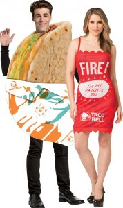 Taco Bell Gordita & Fire Sauce Couples Costume
